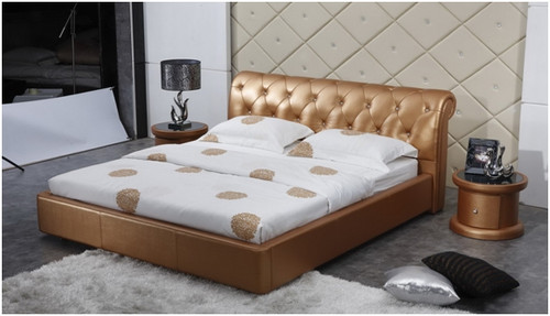 LANSLEBOURG QUEEN 3 PIECE BEDSIDE BEDROOM SUITE WITH (#119 BEDSIDES) - LEATHERETTE - ASSORTED COLOURS (WITH OPTIONAL UPGRADE FOR GAS LIFT UNDERBED STORAGE)