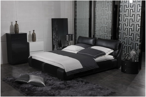 EDWARD QUEEN 3 PIECE BEDSIDE BEDROOM SUITE WITH (#121 BEDSIDES) - LEATHERETTE - ASSORTED COLOURS (WITH OPTIONAL UPGRADE FOR GAS LIFT UNDERBED STORAGE)