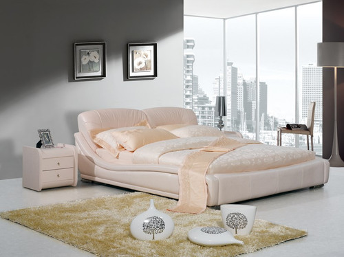 KING JEFFERSON LEATHERETTE BED (A9106) WITH GAS LIFT UNDERBED STORAGE - ASSORTED COLOURS