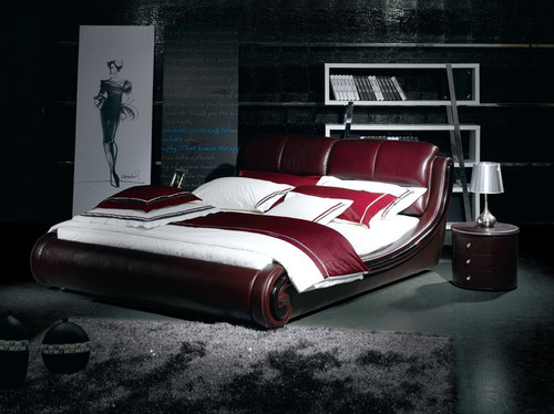 QUEEN MERUDI LEATHERETTE BED (A9108) - ASSORTED COLOURS