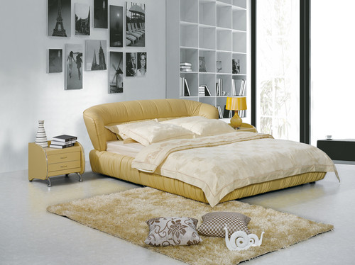 KING DAVIDSON LEATHERETTE BED (A9112) WITH GAS LIFT UNDERBED STORAGE - ASSORTED COLOURS