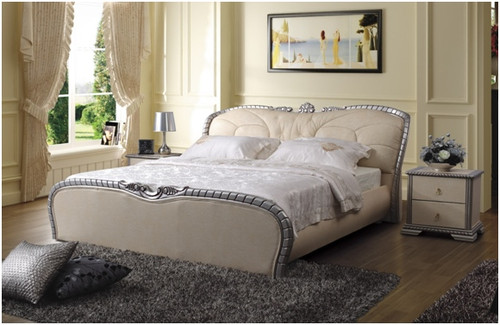 JOSHUA QUEEN 3 PIECE BEDSIDE BEDROOM SUITE WITH (#94 BEDSIDES) - LEATHERETTE - ASSORTED COLOURS