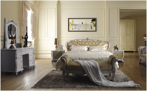 CAMERON QUEEN 3 PIECE BEDSIDE BEDROOM SUITE WITH (#97 BEDSIDES) - LEATHERETTE - ASSORTED COLOURS