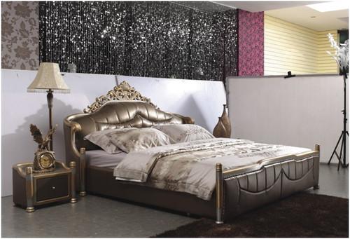 SKYWALKER QUEEN 3 PIECE BEDSIDE BEDROOM SUITE WITH (#101 BEDSIDES) - LEATHERETTE - ASSORTED COLOURS