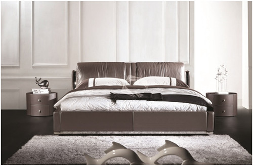 ATREUS KING 3 PIECE BEDSIDE BEDROOM SUITE - LEATHERETTE - ASSORTED COLOURS (WITH OPTIONAL UPGRADE FOR GAS LIFT UNDERBED STORAGE)