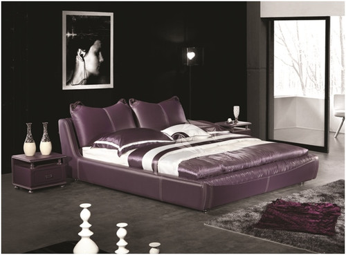 KING IVOR LEATHERETTE BED (A9079) - ASSORTED COLOURS