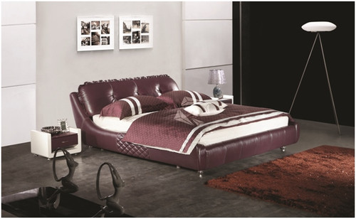 QUEEN VALTINO LEATHERETTE BED (A9085) - ASSORTED COLOURS