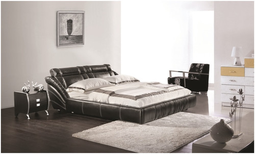 QUEEN ARION LEATHERETTE BED (A9099) - ASSORTED COLOURS