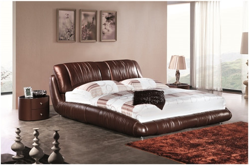 KING MATTHEW LEATHERETTE BED (A9902) - ASSORTED COLOURS