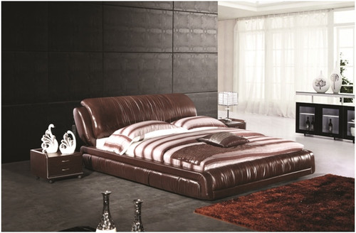QUEEN ROSSO LEATHERETTE BED (A9903) - ASSORTED COLOURS