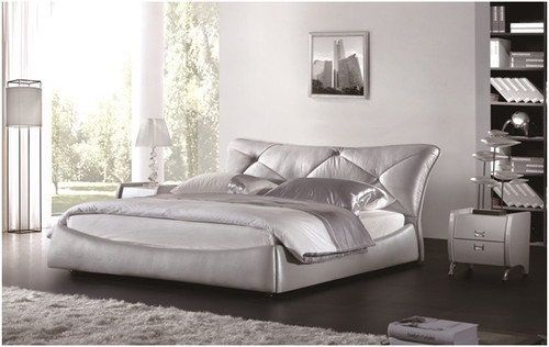 QUEEN FRANCO LEATHERETTE BED (A9909) - ASSORTED COLOURS
