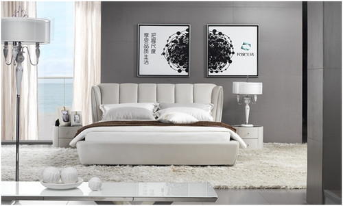 JULIUS QUEEN 3 PIECE BEDSIDE BEDROOM SUITE - LEATHERETTE - ASSORTED COLOURS (WITH OPTIONAL UPGRADE FOR GAS LIFT UNDERBED STORAGE)