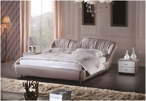 FERDINAND KING 3 PIECE BEDSIDE BEDROOM SUITE - LEATHERETTE - ASSORTED COLOURS (WITH OPTIONAL UPGRADE FOR GAS LIFT UNDERBED STORAGE)