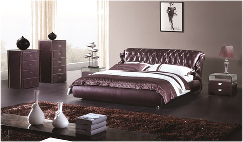 KING LANCASTER LEATHERETTE BED (A9928) - ASSORTED COLOURS