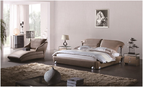 QUEEN COSIMO LEATHERETTE BED (A9931)  - ASSORTED COLOURS