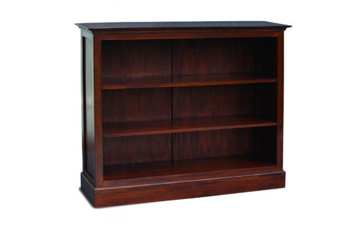 JULIAN HALF SIZE BOOKCASE WIDE (BC-000-HS-W) - 1100(H) x 1350(W) - MAHOGANY OR CHOCOLATE