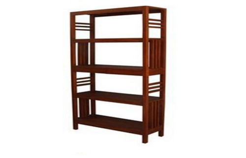 2 DRAWER SLATTED OPEN BOOKCASE (BC-002-SLO) - 1800(H) x 900(W) - MAHOGANY OR CHOCOLATE
