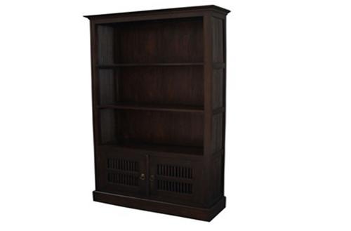 2 DOOR FUJI BOOKCASE (BC-200-DW) - 1900(H) x 1000(W) - MAHOGANY OR CHOCOLATE