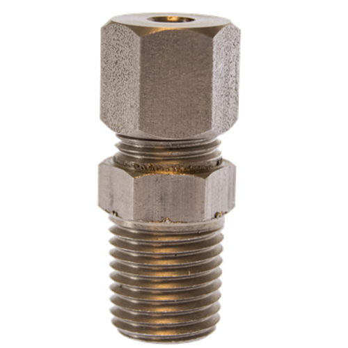 """1/8"""" MNPT x 0.125"""" OD Stainless Fitting"""