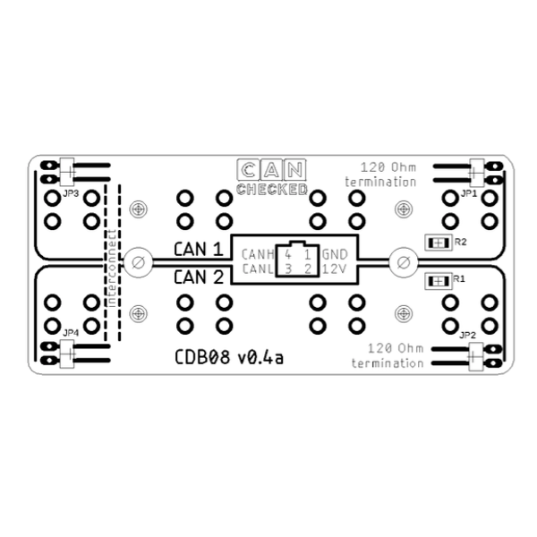 This well designed board allows you to use physical jumpers to activate the built in 120 ohm resistor and operate as 2 buses with 4 ports each or 1 bus with 8 ports.