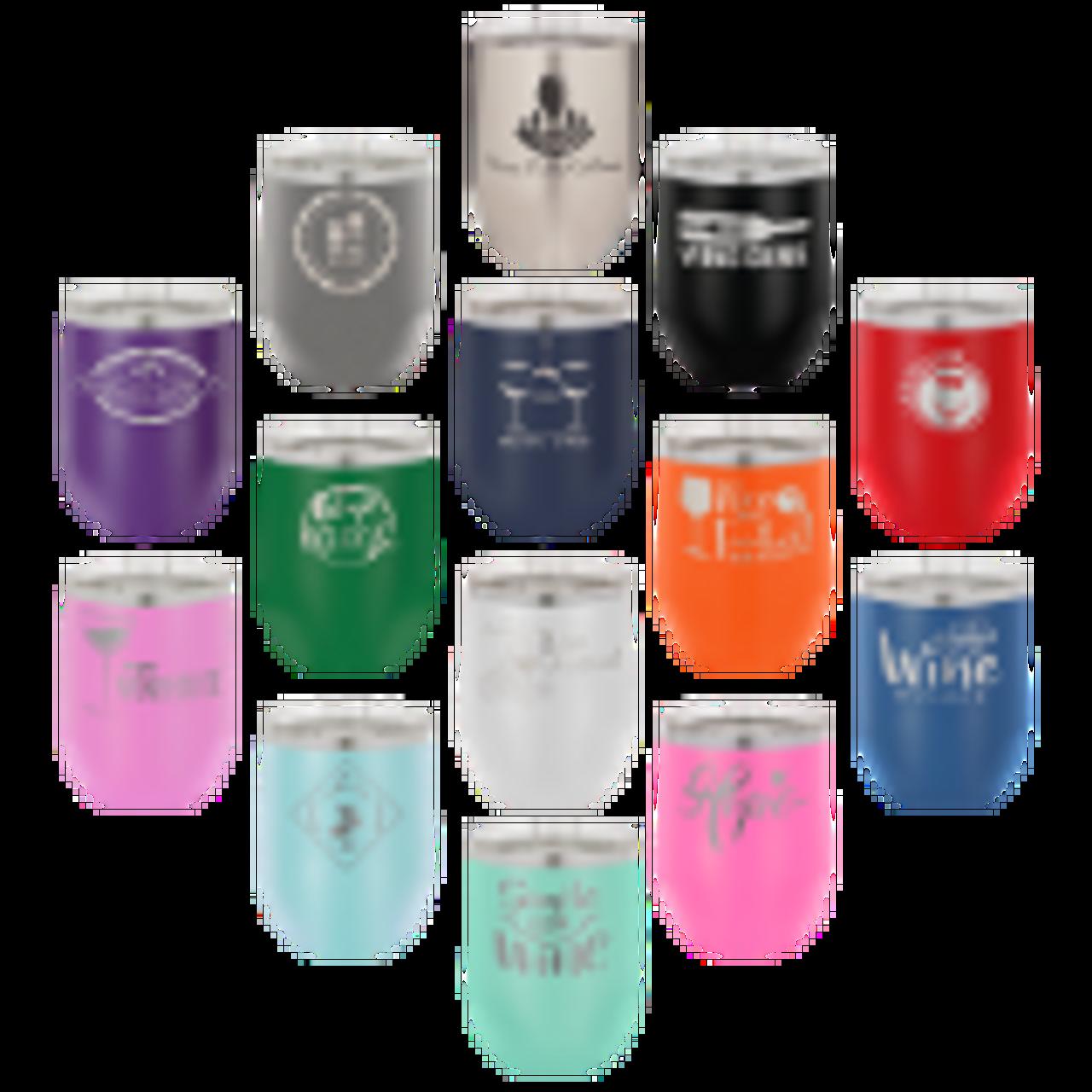12 oz. Vacuum Insulated Stemless Wine Glass
