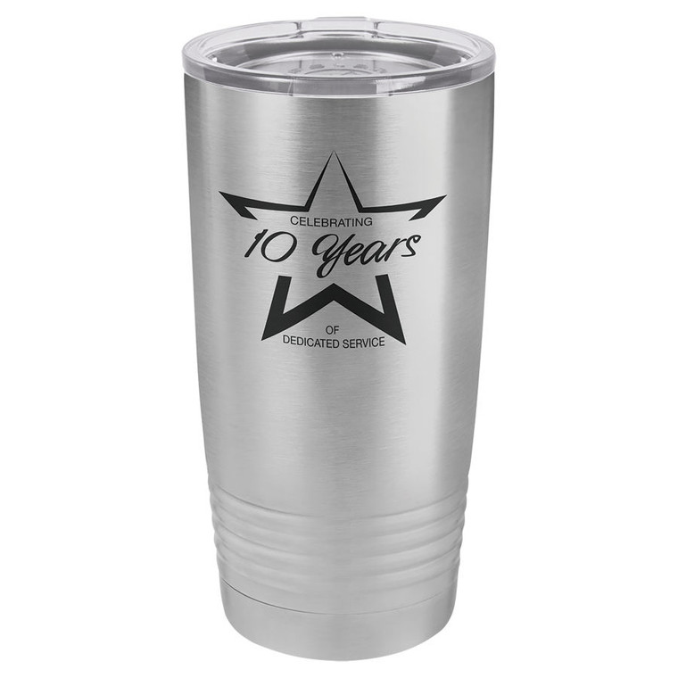 Polar Camel 20 oz. Stainless Steel Ringneck Vacuum Insulated Tumbler w/Clear Lid