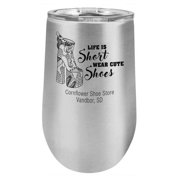 Polar Camel 16 oz. Stainless Steel Vacuum Insulated Stemless Tumbler with Lid
