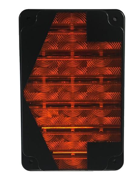 "ECVRT861RPTYA, Sound Off LED Thomas C2 Park/Turn Light with Amber Arrow (8.5"")"
