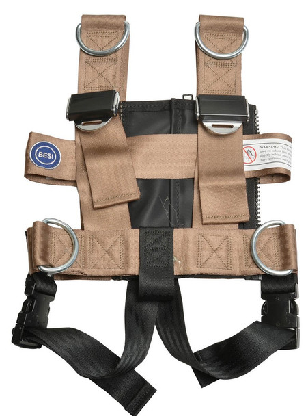 BR-25SJI-C, Besi Universal Small Vest with Crotch Strap (With Safe Journey Seat Mount) (COLOR: TAN)