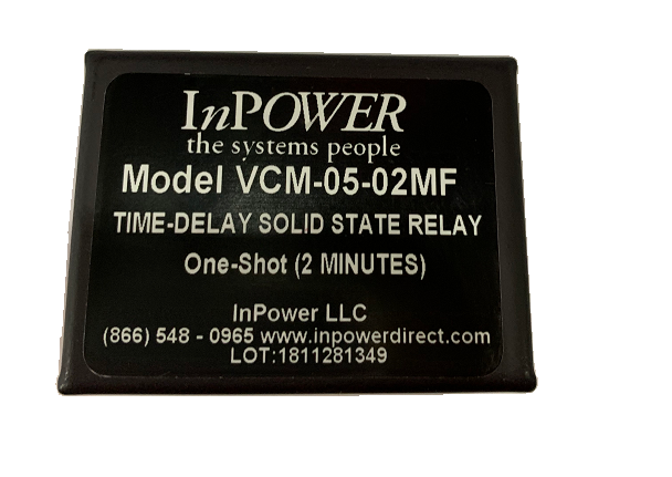 VCM-05-02MF,  Inpower One-Shot Solid State Timer Relay
