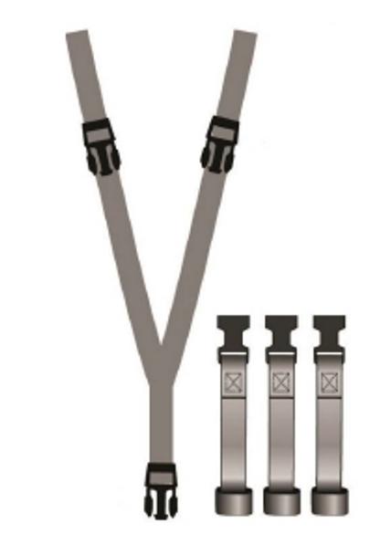 CS-150-M, Crotch Strap Retro Kit for BR33 Vests