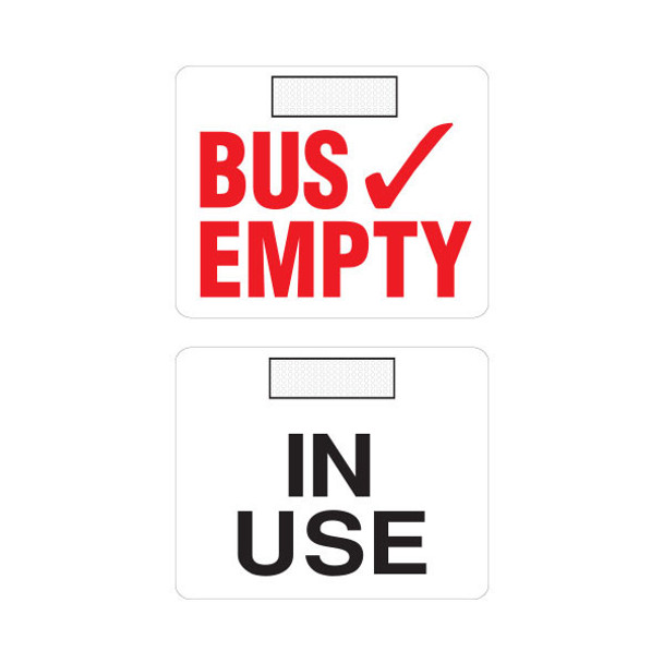 BE-V2, Bus Empty Sign - Velcro - 2 Sided