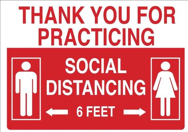 SB998, Social Distancing Decal