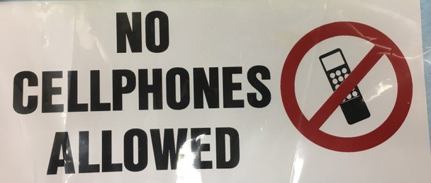 SB135, No Cell Phone Decal