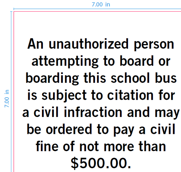 SB996,  Unauthorized Person Decal - 7x7 Black on White