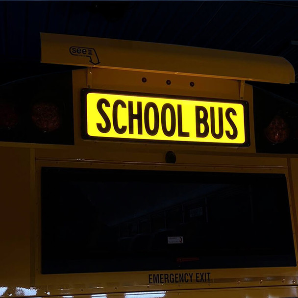101071-100,  First Light Illuminated School Bus Sign Set BB All American