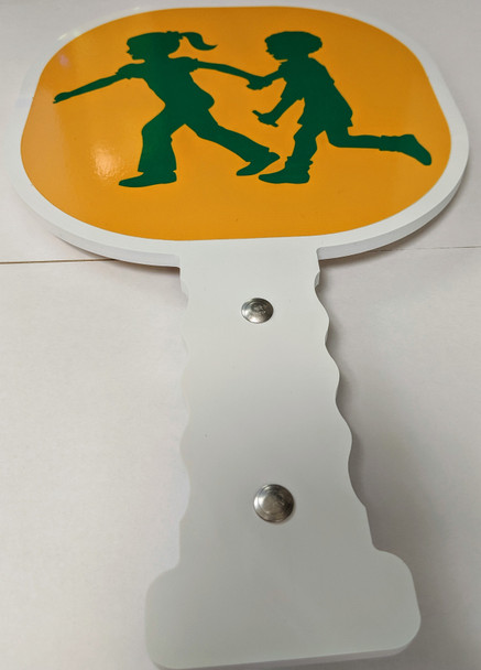 CGP-2M,  Crossing Guard Paddle with Magnet (Kids Walking)