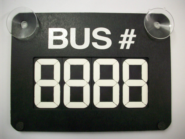 RC-SC4B,  Route Changer with Suction Cups (Bus #)