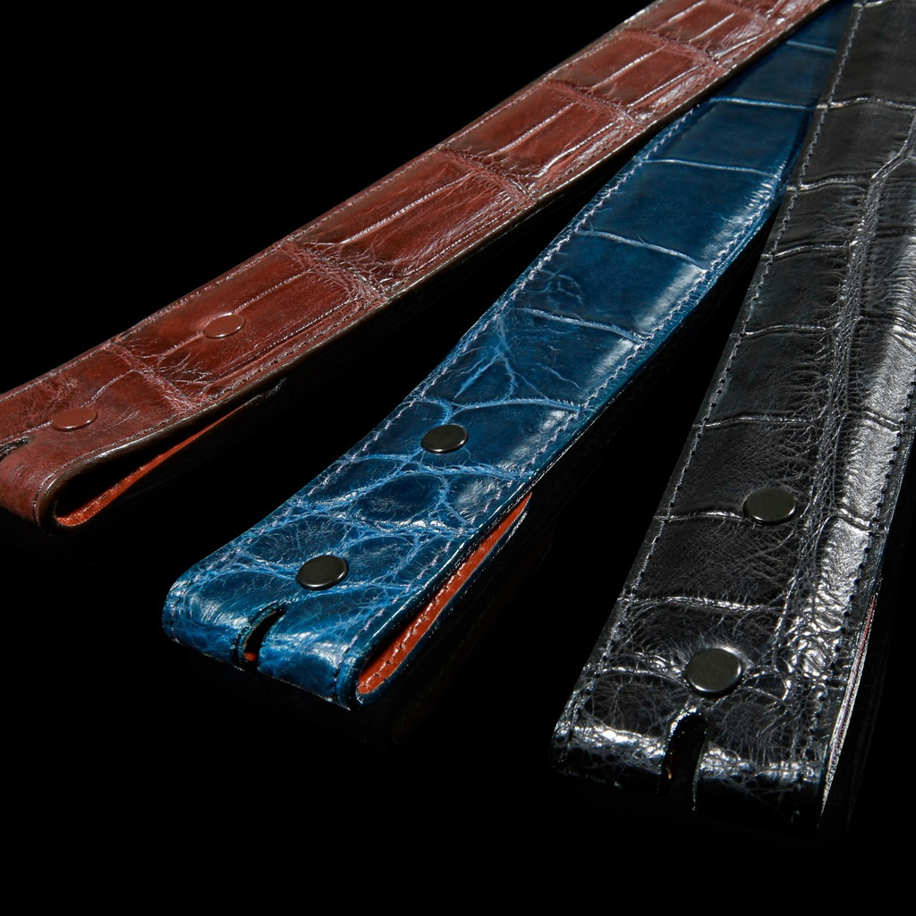 Alligator Belt, Matte 1 1/2 inch Straight