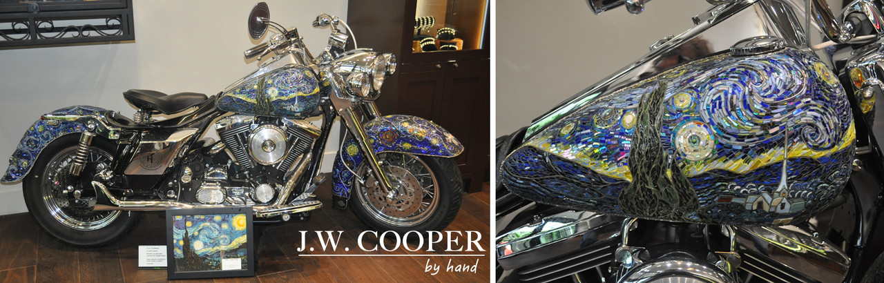 "Artist Paul Pearman's mosaic Harley Davidson ""The Starry Night"" - The Story"
