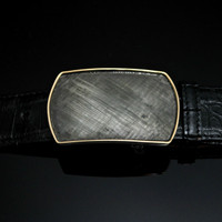 Sterling Silver Buckle with Florentine Engraving & 14K Gold Wire