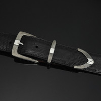 """Buckle Set Sterling with Florentine Engraving in 1 1/2"""""""