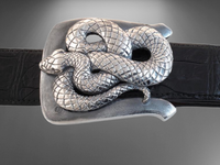 Sterling Silver Snake Buckle