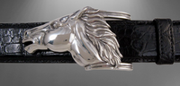 Sterling Silver Running Horse Buckle