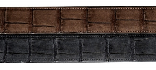 Nubuck Crocodile Belt, 1 1/2 inch