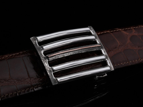Sterling Silver Heavy Wire Buckle with 14K Gold