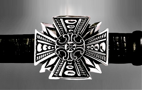 Gothic Cross Sterling Silver Buckle