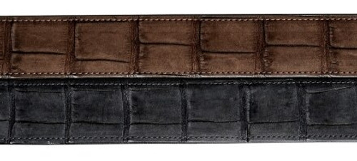 Nubuck Crocodile Belt, 1 1/4 inch