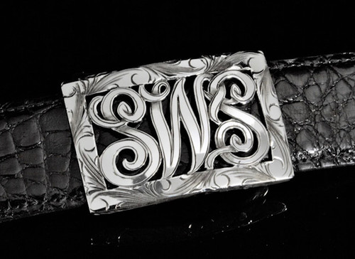 Custom Initial Sterling Silver Buckle-Special Order