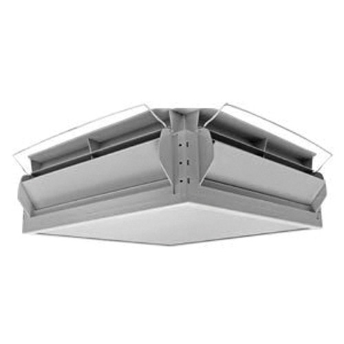 Double L Group 4-Way Ceiling Mount Attic Air/Topjet Inlet, 22-1/2 in L x 22-1/2 in W Inlet, 1812 cfm at 0.125 SP